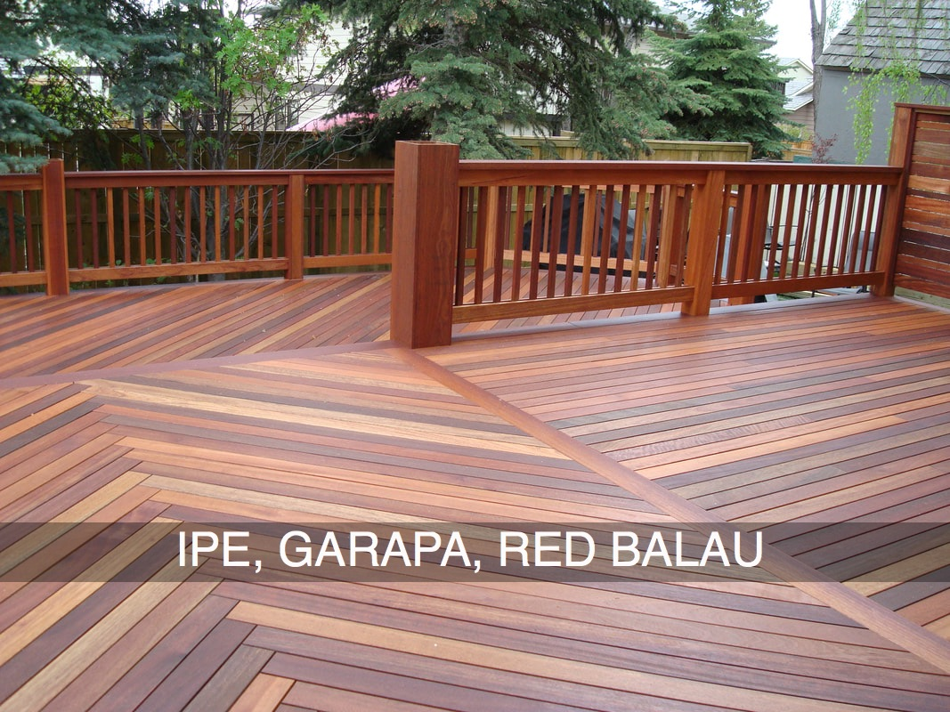 IPE, Garapa, Red Balai decking